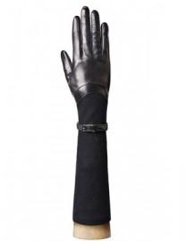 Перчатки длинные зимние подкладка из шелка HP00174 black (Eleganzza)