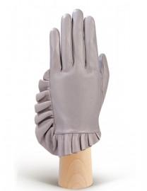 Перчатки длинные зимние подкладка из шелка IS256 l.grey (Eleganzza)