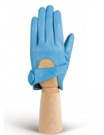 Перчатки кожаные короткие подкладка из шелка IS016 l.blue (Eleganzza)