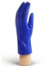 Перчатки кожаные с мехом подкладка из шелка AND W12FH-0181 blue (Anyday)