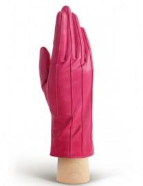 Перчатки кожаные утепленные подкладка из шелка AND W12FH-0181 fuchsia (Anyday)