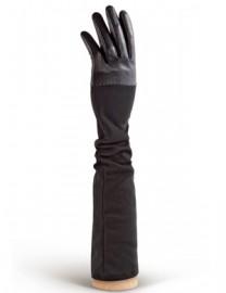 Перчатки кожаные высокие без пальцев IS01015 black (Eleganzza)