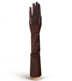 Перчатки кожаные высокие без пальцев IS01015 d.brown (Eleganzza)