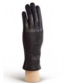 Перчатки кожаные женские подкладка из шелка AND W12FT 180 black (Anyday)