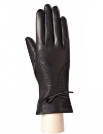 Перчатки кожаные женские подкладка из шелка AND W12FT 78 black (Anyday)