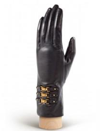 Перчатки женские 100% кашемир 1992w black (Eleganzza)