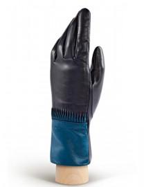 Перчатки женские 100% кашемир 2538w navy/stardust (Eleganzza)