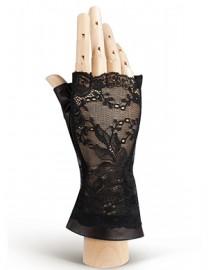 Перчатки женские без пальцев 388 black (Eleganzza)