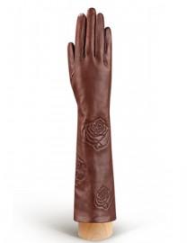 Перчатки женские подкладка из шелка 3663w brown (Eleganzza)