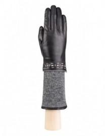 Перчатки жен 100% шерсть LB-5768 black/l.grey (Labbra)