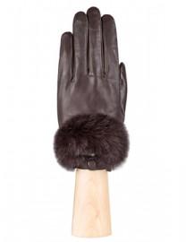 Перчатки жен подкладка из шелка LB-9220 brown (Labbra)