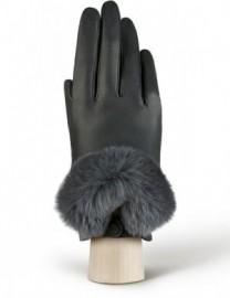 Перчатки жен подкладка из шелка LB-9220 d.grey (Labbra)