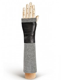 Перчатки женские 100% кашемир. 12600 black (Eleganzza)