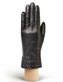 Перчатки женские 100% шерсть HP525 black/d.grey (Eleganzza)