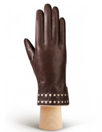 Перчатки женские 100% шерсть HP525 brown/beige (Eleganzza)