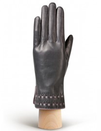 Перчатки женские 100% шерсть HP525 d.grey/l.grey (Eleganzza)