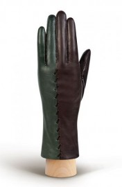Перчатки женские 100% шерсть HP534 brown/olive (Eleganzza)