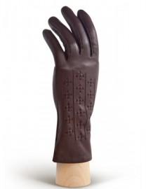 Перчатки женские 100% шерсть HP5367 d.brown (Eleganzza)
