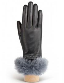 Перчатки женские 100% шерсть IS036 black/grey (Eleganzza)