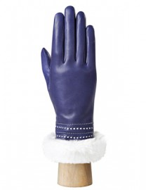 Перчатки женские 100% шерсть IS036 violetblue/white (Eleganzza)