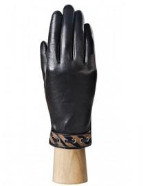 Перчатки женские 100% шерсть IS128 black/brown (Eleganzza)