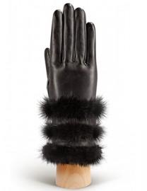 Перчатки женские 100% шерсть IS193 black (Eleganzza)