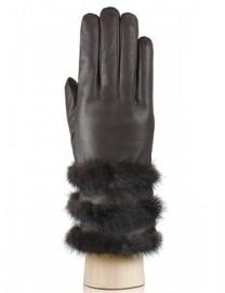 Перчатки женские 100% шерсть IS193 brown (Eleganzza)