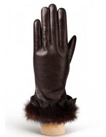 Перчатки женские 100% шерсть IS194 d.brown (Eleganzza)