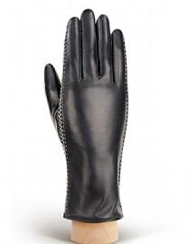 Перчатки женские 100% шерсть IS235 black/white (Eleganzza)