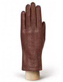 Перчатки женские 100% шерсть IS252L-s d.brown (Eleganzza)