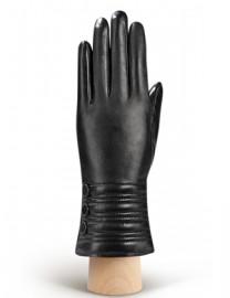 Перчатки женские 100% шерсть IS253 black (Eleganzza)