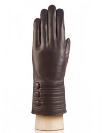 Перчатки женские 100% шерсть IS253 brown (Eleganzza)