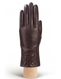 Перчатки женские 100% шерсть IS255 brown (Eleganzza)