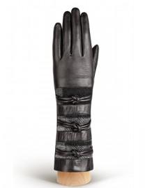 Перчатки женские 100% шерсть IS261 black (Eleganzza)