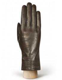 Перчатки женские 100% шерсть IS262L brown (Eleganzza)
