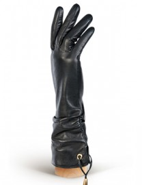 Перчатки женские 100% шерсть IS310 black (Eleganzza)