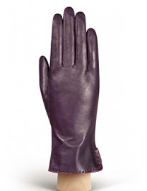 Перчатки женские 100% шерсть IS313L d.violet/cranberry (Eleganzza)