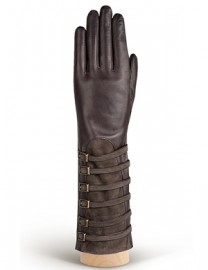 Перчатки женские 100% шерсть IS325 brown/taupe (Eleganzza)