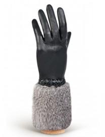 Перчатки женские 100% шерсть IS445 black (Eleganzza)