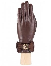 Перчатки женские 100% шерсть IS487 brown (Eleganzza)