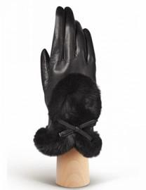 Перчатки женские 100% шерсть IS617 black (Eleganzza)