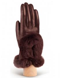 Перчатки женские 100% шерсть IS617 brown (Eleganzza)