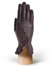 Перчатки женские 100% шерсть IS6821 brown (Eleganzza)