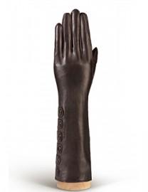 Перчатки женские 100% шерсть IS686 d.brown (Eleganzza)