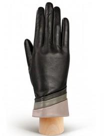 Перчатки женские 100% шерсть IS701 black/grey (Eleganzza)