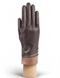 Перчатки женские 100% шерсть IS701 d.brown/taupe (Eleganzza)