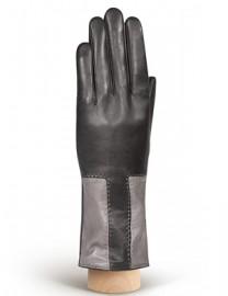 Перчатки женские 100% шерсть IS736 black/grey (Eleganzza)