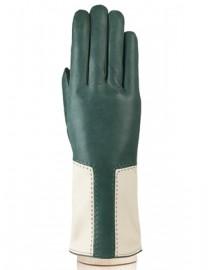 Перчатки женские 100% шерсть IS736 green/beige (Eleganzza)