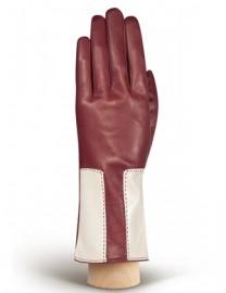 Перчатки женские 100% шерсть IS736 merlot/beige (Eleganzza)