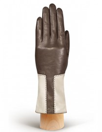 Перчатки женские 100% шерсть IS736 taupe/beige (Eleganzza)